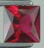 6mm (~1.12ct) Princess Cut Sri Lanka Ruby