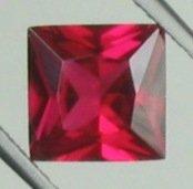 7mm (~1.81ct) Princess Cut Sri Lanka Ruby