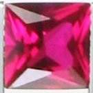 7mm (~1.93ct) Princess Cut Sri Lanka Ruby
