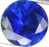 8mm (~2.4ct) Round Brilliant Ceylon Sapphire