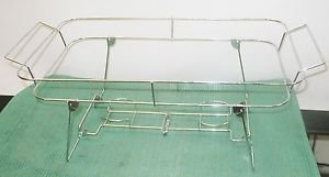 Set of 4 Chrome Chafer Food Warmer Wire Frame Stand Rack Buffet Chafing Dish
