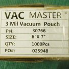 "Vac Master 6"" x 7"" Chamber Vacuum Packaging Pouches Bags 3 Mil 30766 approx 700"