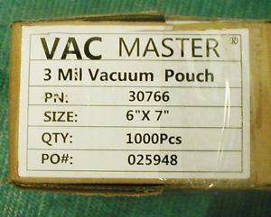 """Vac Master 6"""" x 7"""" Chamber Vacuum Packaging Pouches Bags 3 Mil 30766 approx 700"""