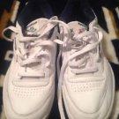 Reebok Men's Classic Leather Casual Shoes 6-1330 White/Navy Sz 8.5 Excellent Con