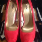 Mossimo Women's Suede Chunky Red Shoes Pumps Heels - New Women's Size 7 So Cute