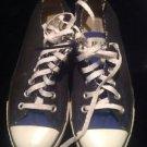 Unisex Converse Black With Blue Details Classic Low Rise Men SZ 6 Women's 8