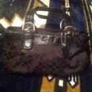 Authentic Coach  Black Signature  Purse Women's Shoulder Handbag Ret. $378