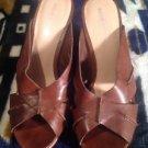 """Mossimo Women's Brown Cork Wedge Heel Sandals Shoes 3"""" Sz 8.5 Ret. $45"""