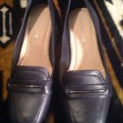 Michelle D Womens Pump Heels Size 8.5 M Lulu 251 Fresh Navy Leather