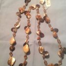 Style&co. Necklace, Gold -Tone Brown Shell Rope Long Necklace Ret. $28