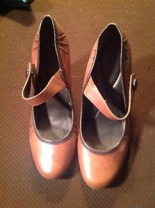 REBA Womens Shoes Mary Janes High Heels Great Condition Brown US 7M Ret. $99