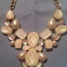Style & Co white cluster bead bib necklace 10.5 Inch Drop Ret. $30