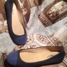 NEW LUCKY BRAND NAVY/SLATE BLUE LEATHER  BALLET FLATS WOMEN'S SHOES SIZE 6M