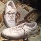 Women's Size 8M Classic Reebok Princess Shoes in White Leather GOOD CONDITION