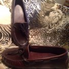 Minnetonka Women's Brown GENUINE Leather Moccasin Loafers Shoes Size 6.5M