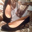 Liz Claiborne Heels Pumps Women's Size 9M Solid Black Shoes