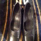Women's Rockport Smooth Black Leather Pump Square Toe Size 7 M VERY NICE
