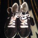 Women's Sz 6B Polo Ralph Lauren Gillian Madras Black Fashion Athletic Shoes
