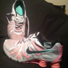 WOMEN'S NIKE SHOX TURBO 13 RUNNING SHOES SILVER PINK BLACK GREEN SZ 8M SNEAKERS