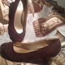 CATO WOMEN'S BROWN SUEDE PUMPS SHOES HEELS SIZE 9M