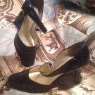 BELLINI CALLIE Leather Upper Black Leather Women's Heels Pumps SZ 7.5M MRSP $73