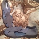 HUSH PUPPIES WOMEN'S CLASS ACT II BLUE SUEDE LEATHER STRETCH SHOES SIZE 7.5M