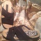EASY SPIRIT ESHERMOSA WOMEN'S BLACK NUBUCK LEATHER SLIP-ON SIZE 6M SANDALS SHOES