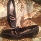 "AEROSOLES Women's ""RELATCH"" MARY- JANE PUMPS BLACK LEATHER HEELS SIZE 7M"