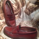 DEXTER MEN'S PENNY LOAFERS SLIP ON LEATHER SHOES SIZE 7.5D BROWN RETRO VINTAGE