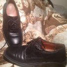 CLARKS OXFORD DRESS MEN'S BLACK LEATHER CASUAL FOOTWEAR LACE SHOES SIZE 9.5M