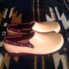 SPERRY Top-Sider Women's Pink/Brown Rubber/Microfleece Rain Shoes Size 6.5M