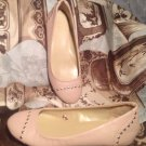 NEW YORK & COMPANY WOMEN'S BALLET FLATS SLIP ON BEIGE SHOES W/ STUDS  Size 6M
