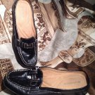 NATURALIZER COZTA WOMEN'S BLACK LEATHER LOAFERS SLIDES MULES SHOES SIZE 7.5M