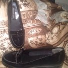 ETIENNE AIGNER TIANA WOMEN'S BLACK PATENT LEATHER LOAFERS FLATS Size 7M SHOES