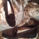 CUTE WOMEN'S UNISA DARK BROWN LEATHER CASUAL SLIP ON LOAFERS SHOES SZ 8.5M