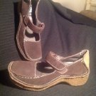 YELLOW BOX SUEDE LEATHER WOMEN'S BROWN OAKLAND SIZE 7M MARY JANE SHOES MRSP $68