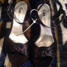 "Fioni Night Shoes Ladies Size 8M Women's Heels 2 3/4"" Black Fabric Upper SZ 8"