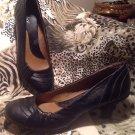 "SOFTSHOE by MEDICUS LILLIE BLACK WOMEN'S Leather 2 3/4"" Heels Pumps Shoes 9M"