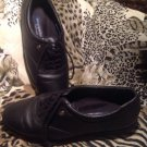 ~EASY SPIRIT~ ESMOTION ANTI-GRAVITY Women's 8B Black Leather Lace-Up Shoes
