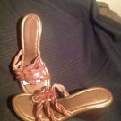 NEW WOMEN'S BROWN MONTEGO BAY CLUB LEATHER BRAIDED THONGS SLIP-ON SANDALS 8.5M