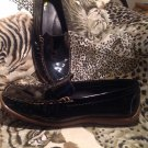 Andrew Stevens BLISS Patent Leather Womens Loafers Shoes Black Sz 9M MRSP $77