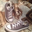 $35 Converse All Star Low Top Canvas SILVER GRAY Youth Sneakers Size 11