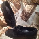 Trotters Women's Black KID SKIN Leather Oxford Loafers Lace Up Shoes 6.5M