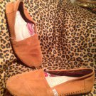 BOBS from Skechers Women's Luxe Rain Dance Flats Chestnut Suede SHOES 7M US