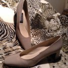 Women's Stuart Weitzman Leather Pumps Creamy Gold Color SZ 9AAAA MRSP $77