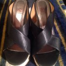 Kayleen By Los Angeles BLACK Wedge Shoes - Women's US Sz 6M OPEN TOE MRSP $89