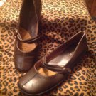 LifeStride Women's DEBUT Brown Mary Jane Flats Shoes SIZE 9M COMFORT