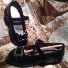 NEW HUSH PUPPIES GIRLS BONITA MARY JANE BLACK SHINY PATENT YOUTH SIZE 1M