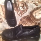 PREDICTIONS LEATHER COLLECTIONS BLACK SLIP ON LOAFERS COMFORT SHOES SIZE 5.5M