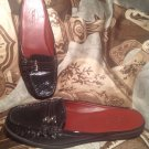 WOMEN'S TALBOTS BROWN LEATHER SLIP ON DOUBLE BUCKLE MULES SIZE 7B SHOES MRSP $88